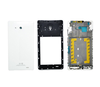 White Front + Middle + Back Housing Cover For Huawei Ascend Mate